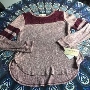 Rewind lace thermal XL NWT!